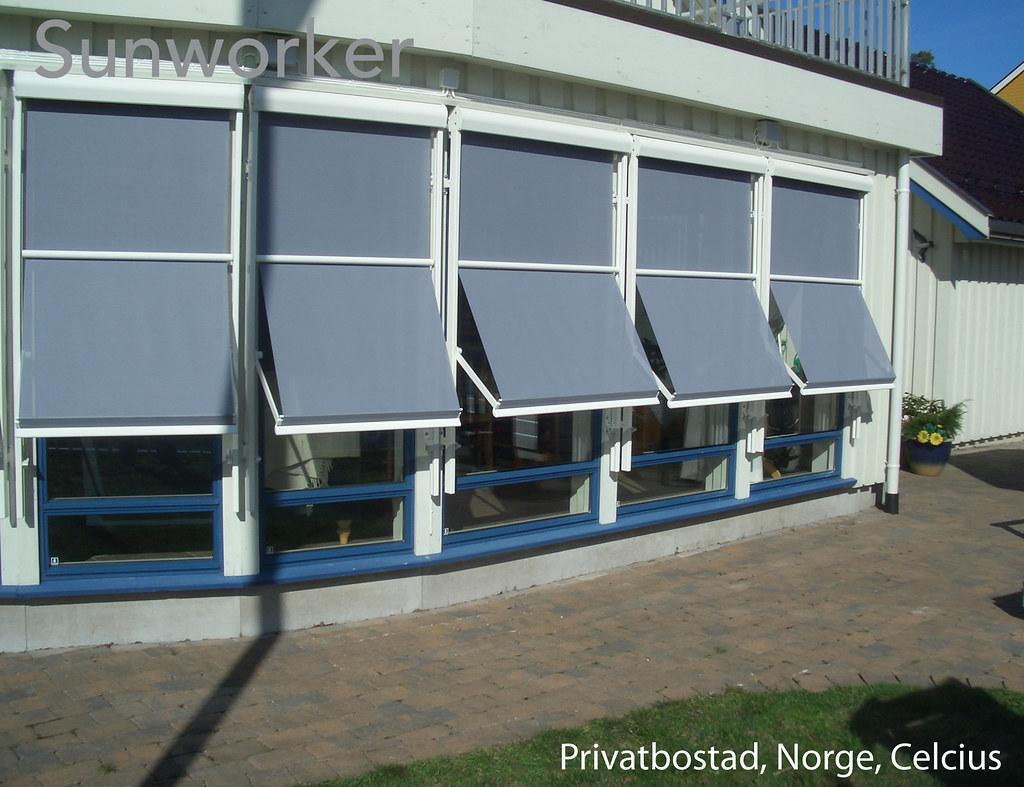 Markisoletter ger en snygg fasad