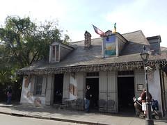 日, 2010-12-05 14:02 - Jean Lafitte Blacksmith Shop 元海賊Jean Lafitteのお家 Creole Cottage French Quarter, New Orelans