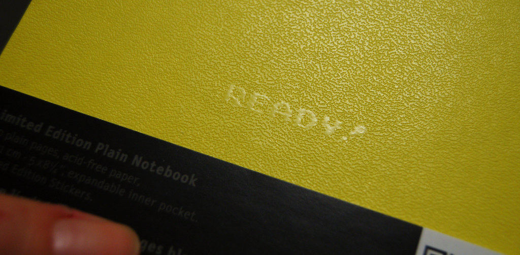 Moleskine Notebook Back: Are you ready to play - Photo Copyright Hanna Andersson #moleskine