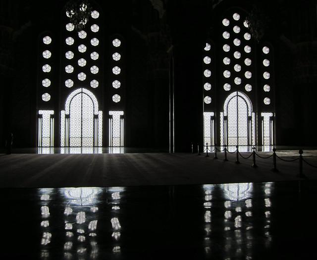 King Hassan II Mosque, windows