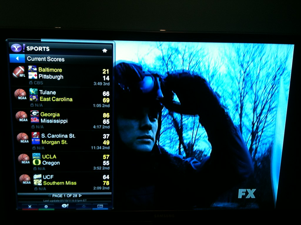 Taking these Yahoo Widgets on my Samsung TV for a test dri