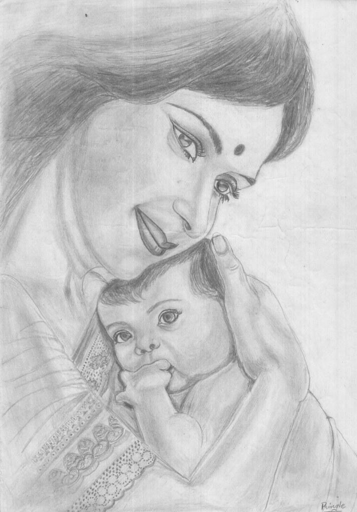 pencil drawing 7_Pringle   mother's love   Honey Pringle ...