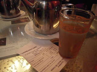 Moroccan food and drink - mint tea in Casablanca Cafe