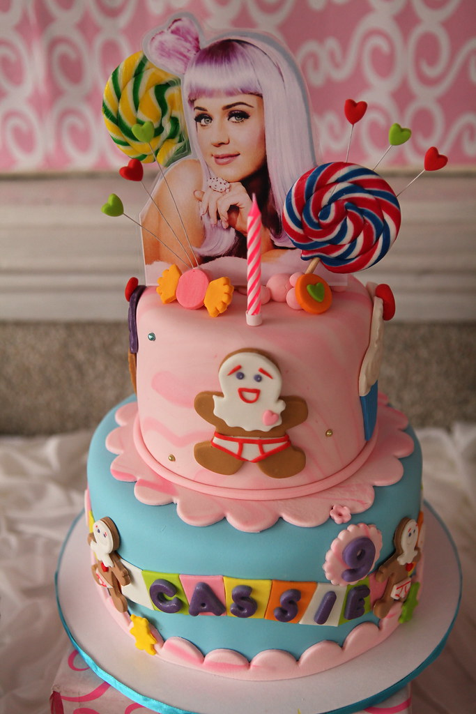 Terrific Katy Perry Cake Marnie Silo Flickr Personalised Birthday Cards Veneteletsinfo