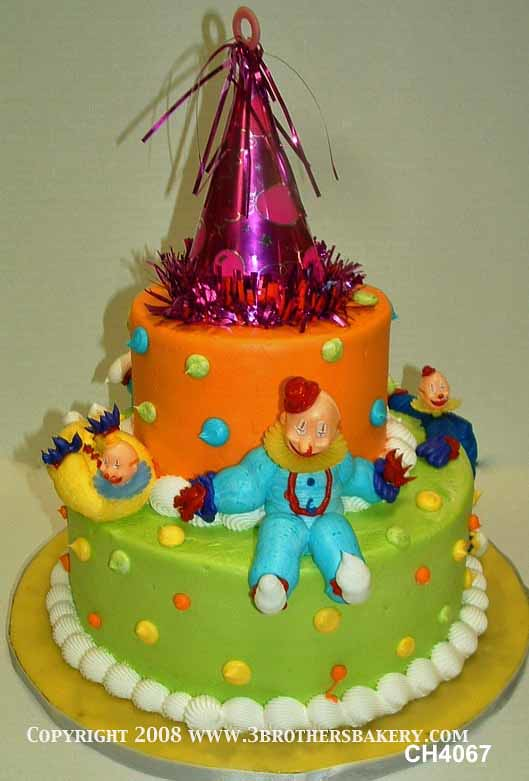 Fine Ch4067 Clown Tiered Birthday Cake 3 Brothers Bakery Flickr Funny Birthday Cards Online Inifofree Goldxyz