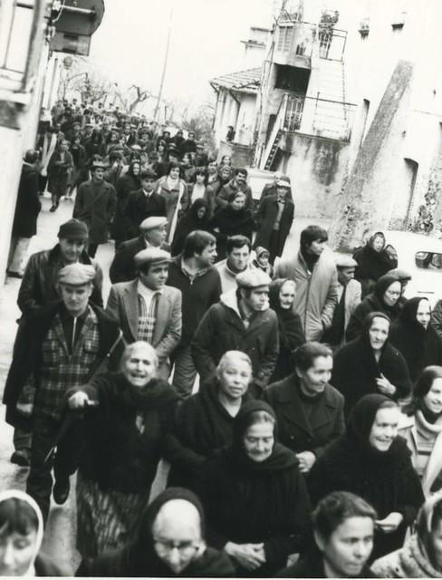 Manifestazione per la guardia medica a Pazzano - anni '80 di Tullio Carnuccio