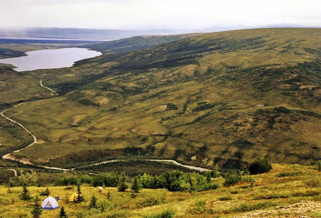 Camp above Wonder Lake
