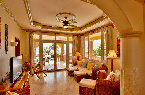 Belizean Cove Estates Living Room | by Sandy Point Resorts