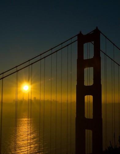 sanfrancisco california bridge sun sunrise puente us goldengate d200 supershot abigfave amacener theunforgettablepictures robertocumsille