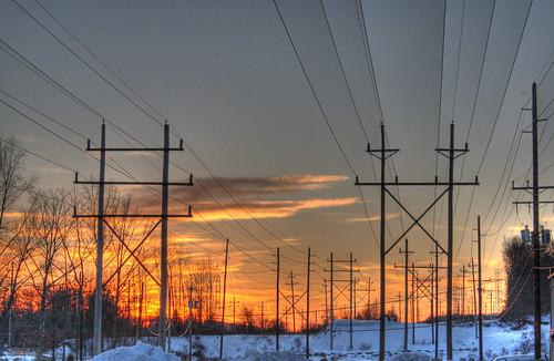 sunset power telephone nj pole photoaday poles hdr wharton 58 project365