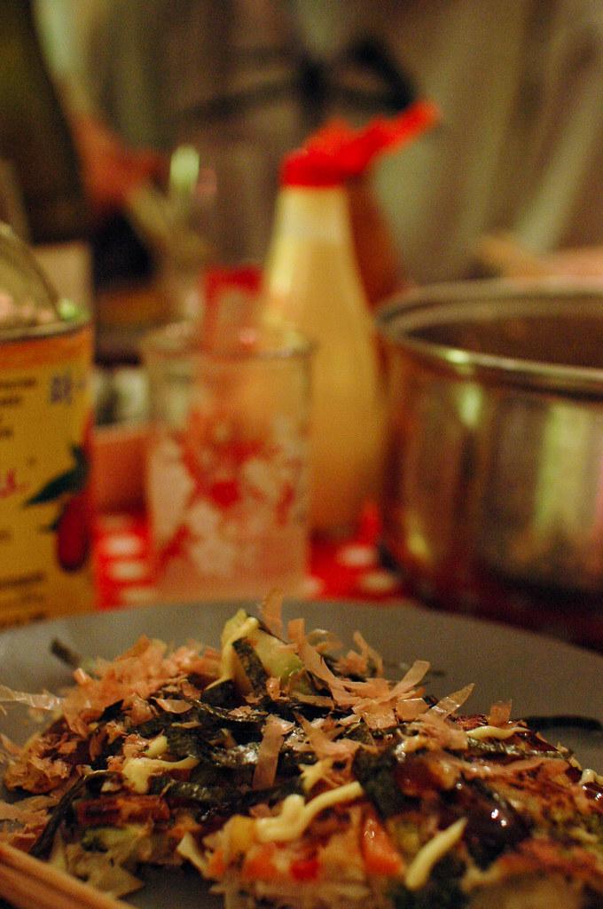 we made delicious okonomiyaki