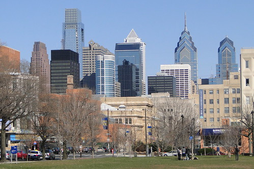View of Philadelphia Skyline from University of Pennsylvania Downtown Campus - Philadelphia - Pennsylvania