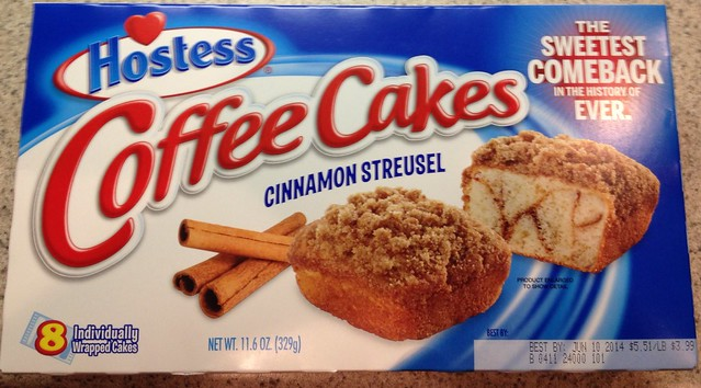 UPDATED 2014 HOSTESS COFFEE CAKES MULTIPACK