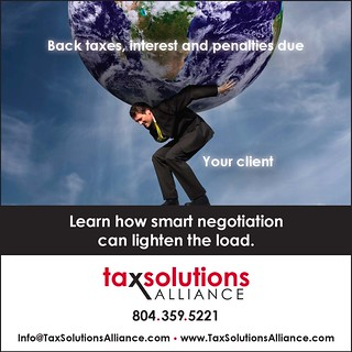 Tax Solutions Alliance Ad #3 | by Bright Orange Advertising