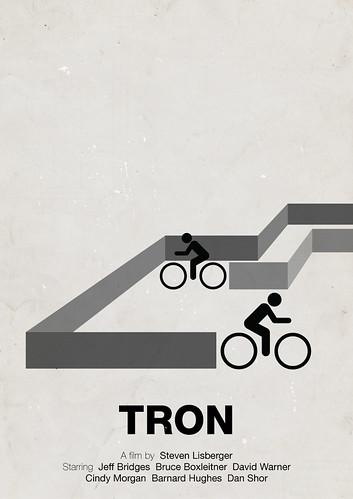 'Tron' pictogram movie poster | by Viktor Hertz