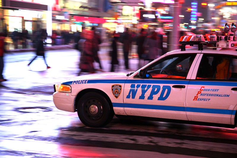 """New York City, Manhattan, Theatre District, Times Square, Broadway Ave. : """" POLICE """""""