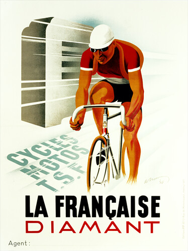 1254 La Francaise Diamant Vintage Bicycle Poster | by BicyclePosters
