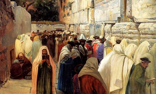 Bauernfeind, Gustav (1848-1904) - Jews at the Wailing Wall (Private Collection)