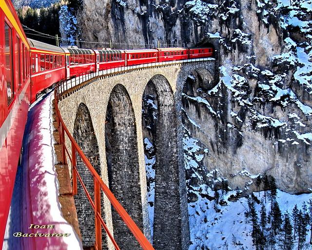 Landwasser Viaduct (winter landscape) / EXPLORED