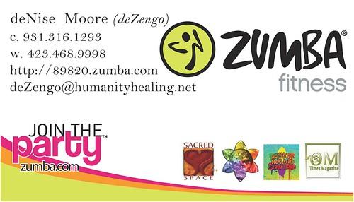 SACREDspace :: Zumba :: Business Card   by deZengo