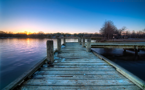 sunset white lake rock landscape dallas dock nikon texas hdr d90