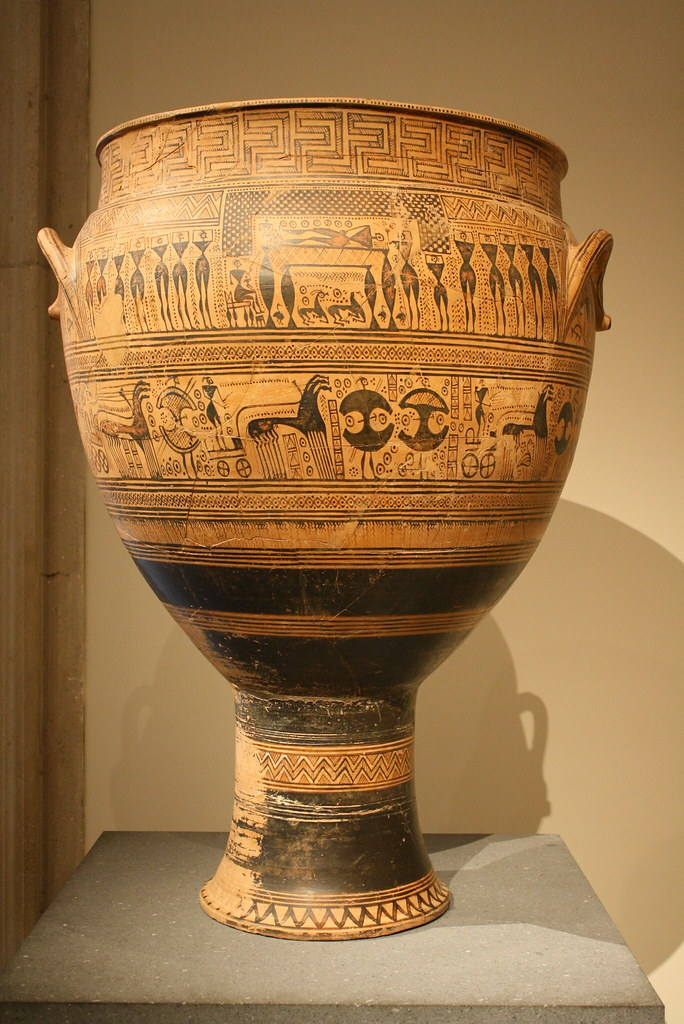 A Highly Important Monumental Attic Late Geometric Krater
