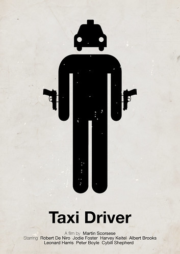 'Taxi Driver' pictogram movie poster