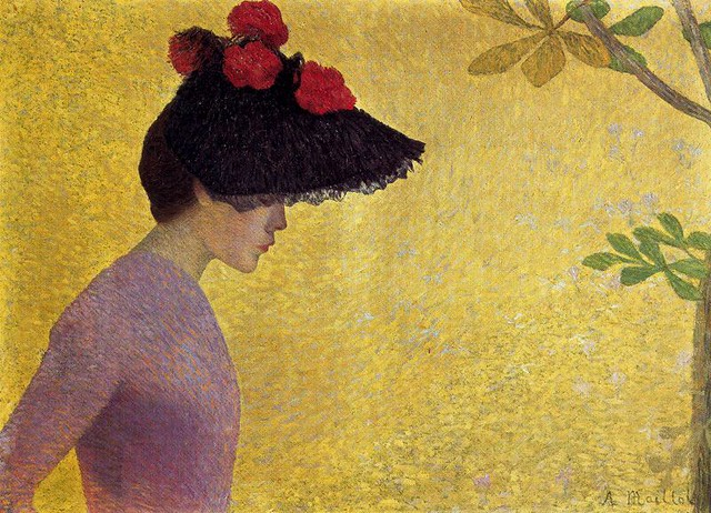 Maillol, Aristide (French, 1861-1944)  - Profile of a  young woman  - 1890