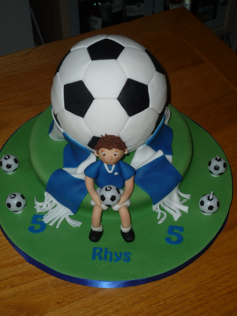 Outstanding Football Birthday Cake Jills Cakes Brighton Flickr Personalised Birthday Cards Paralily Jamesorg