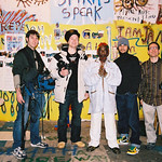 "Brian Fish, Ethan Higbee, Lee ""Scratch"" Perry, Adam Bhala Lough on set of ""The Upsetter"""