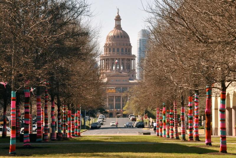 The Yarn Bomb drops in Austin