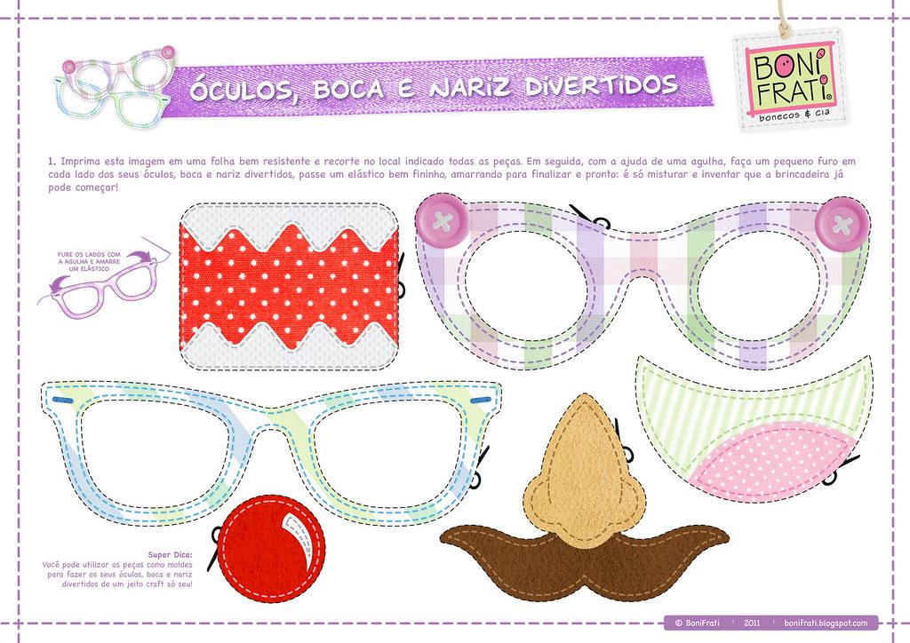 Oculos Boca E Nariz Divetidos Pap Com Molde Faca O Down Flickr