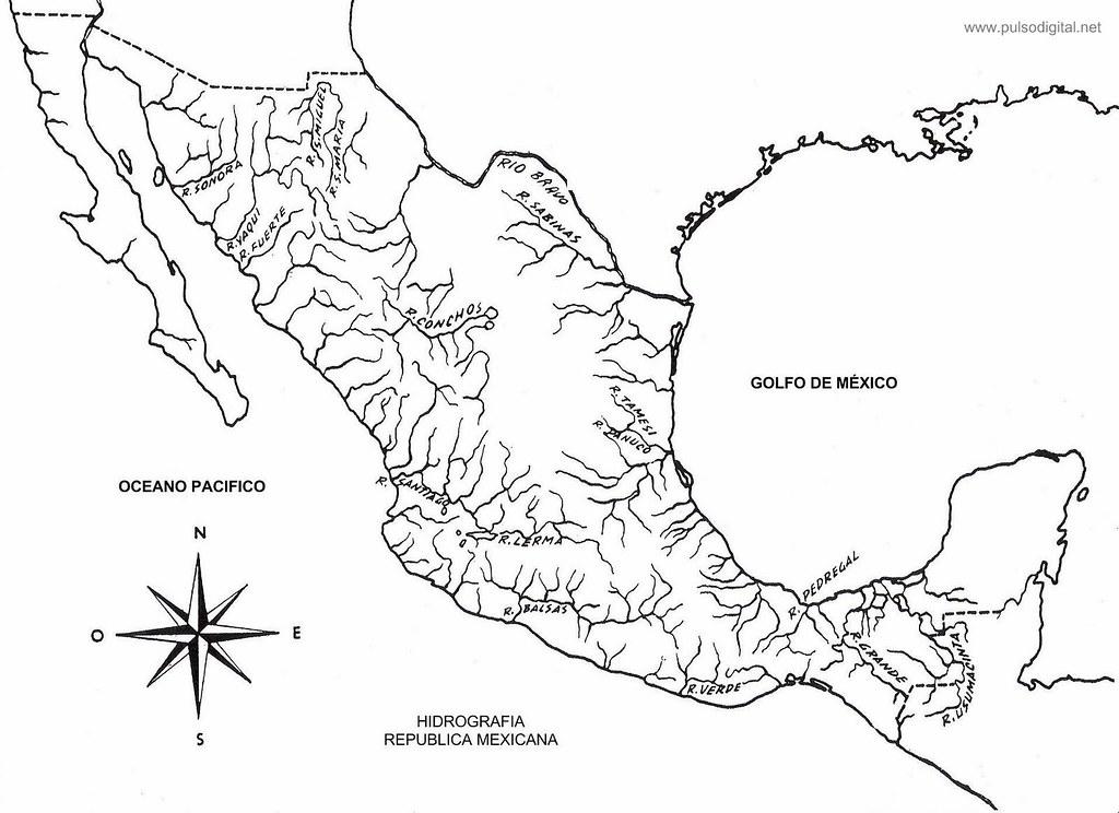 Mapa De La Hidrografia De Mexico Mapa De La Hidrografia De Flickr