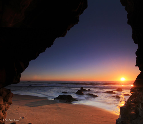 california sunset usa santacruz seascape beach tokina cave pantherbeach singhray canon60d reversegnd holeinthewallbeach