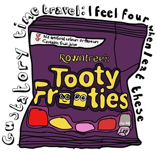 Gustatory time travel: I feel four when I eat these