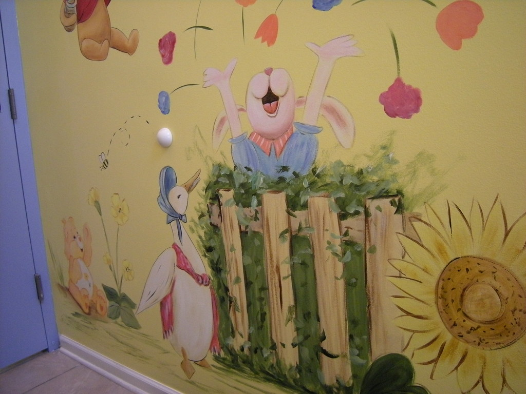 Nursery Rhyme Characters Children S Day Care Mural Flickr