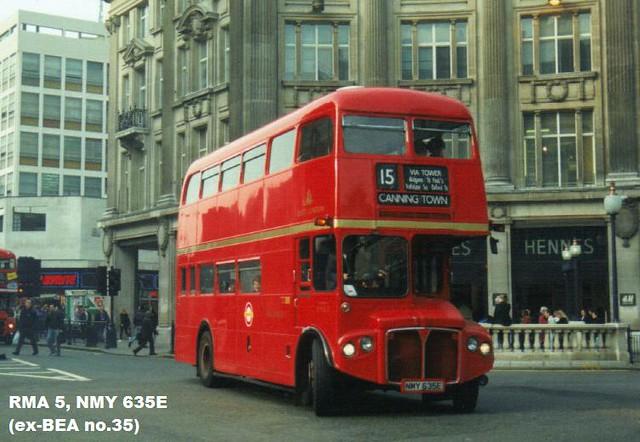 RMA 5, NMY 635E, AEC Routemaster, Park Royal Body H32-24F, 1967
