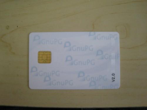OpenPGP 2.0 smartcard front