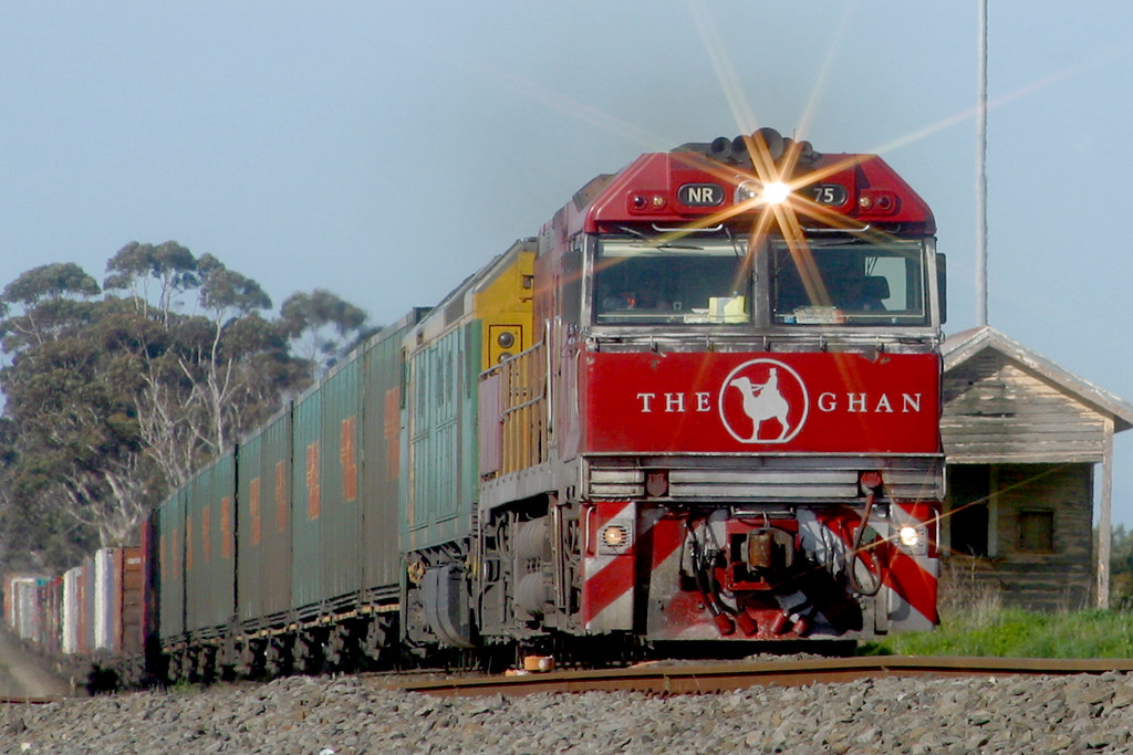 NR75 leads the Adelaide bound freight through Berrybank by Corey Gibson