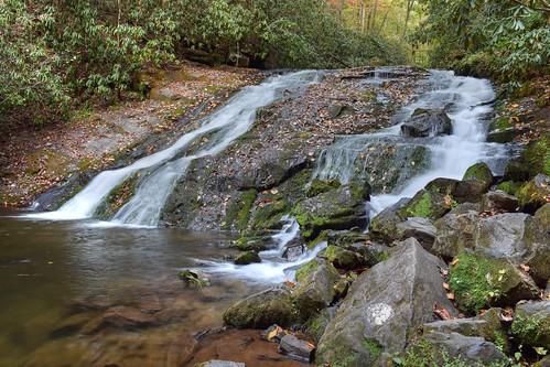 water waterfall slow indiancreekfalls brysoncity nationalpark gsmnp wnc nc northcarolina smokies greatsmokymountainsnationalpark