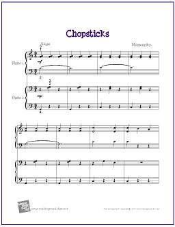 Chopsticks Duet Easy Piano Sheet Music Pdf Chopstick