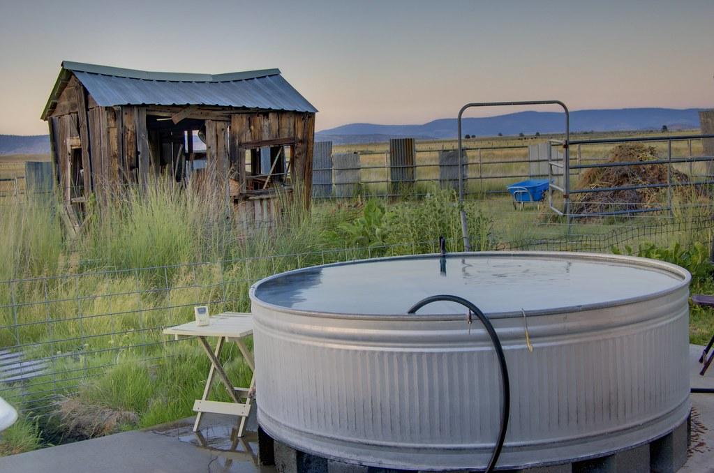 Hot tub at Stonebreaker Ranch HDR
