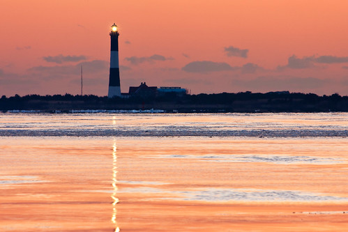 park winter lighthouse ny newyork seascape ice water sunrise canon landscape eos rebel dawn bay li scenery state landmark longisland fireisland xsi robertmoses captree 450d 55250 greatsouth canon450d efs55250 canonxsi january2011