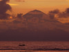 Gunung Agung z pláže Senggigi na ostrově Lombok, foto: Petr Nejedlý
