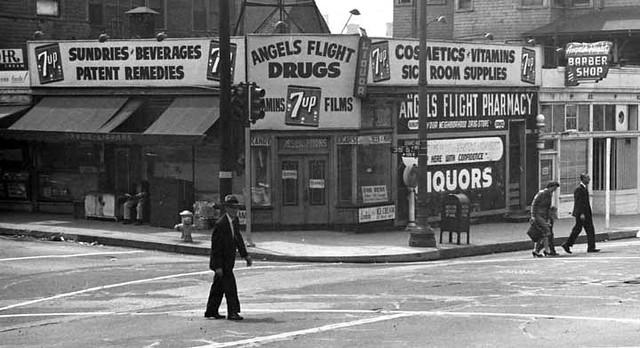 L.A. - Bunker Hill / Angels Flight area 1940s