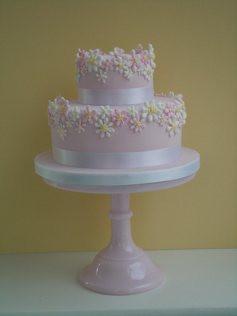 Cool Daisy Birthday Cake A 2 Tier Celebration Cake Very Much In Flickr Funny Birthday Cards Online Alyptdamsfinfo
