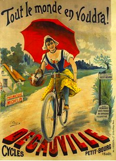 old poster-ad for Decauville bikes | by april-mo