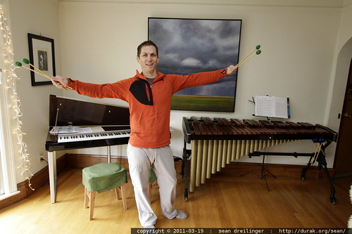 daniel in his living room w/electric piano and marimba - MG 4125.JPG | by sean dreilinger