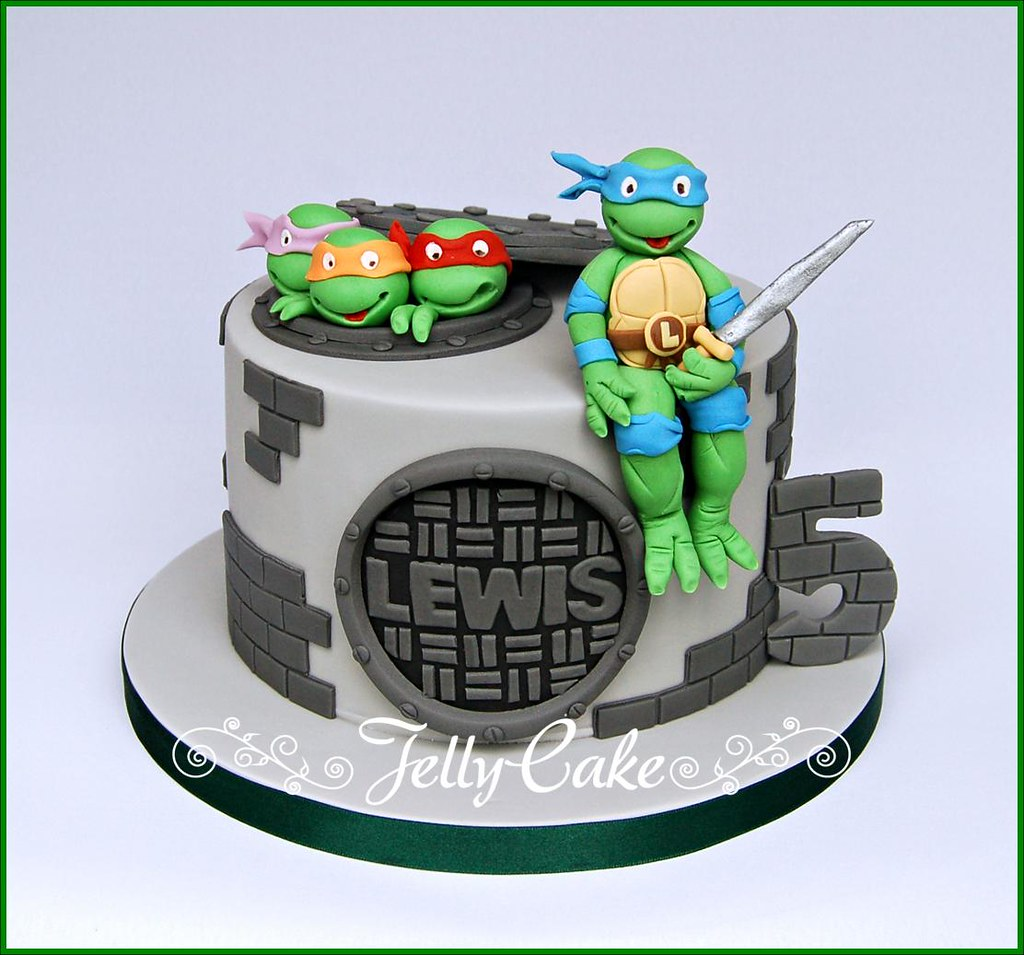 Incredible Teenage Mutant Ninja Turtles Birthday Cake A Tmnt Birthday Flickr Funny Birthday Cards Online Fluifree Goldxyz