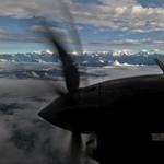 Mountain flight on Yeti Airlines